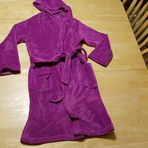 Total Girl brand kids robe size LG 10/12 purple